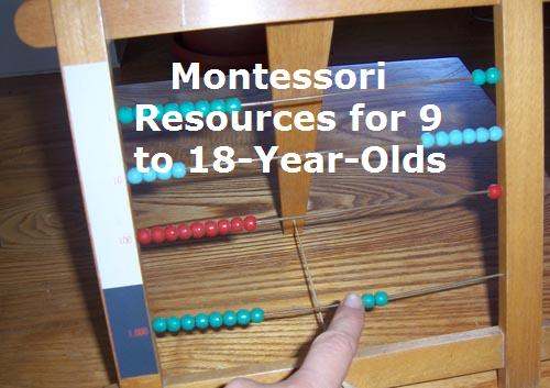 Montessori Resources for 9 to 18-Year-Olds