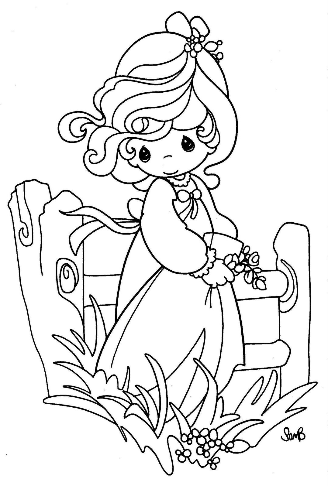Dibujos infantiles para colorear preciosos momentos - Imagui