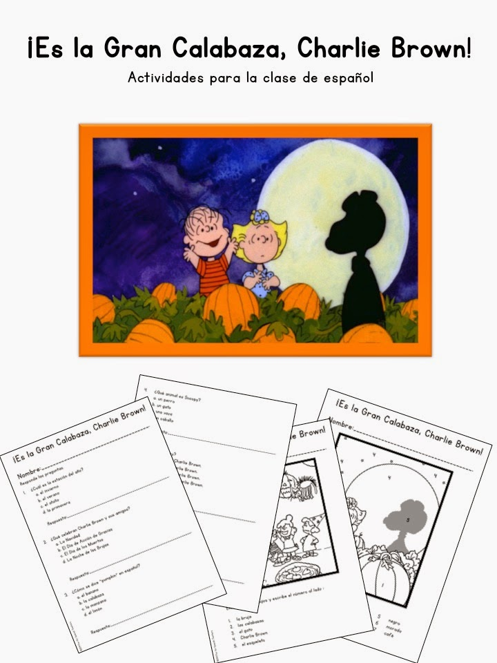 Es la Gran Calabaza, Charlie Brown! {Movie} - Activity Guide for ...