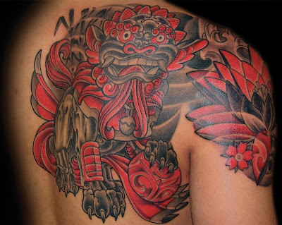 Tatuagem Foo Dog Fu Dog Tattoo Foo Dog Fu Dog - Tattoo Oriental