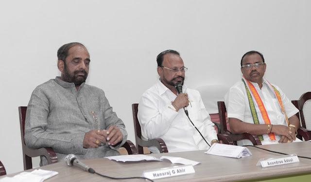 Sansad Ratna Award 2013 winning MPs  Hansraj G Ahir, Anandrao Adsul and S S Ramasubbu,