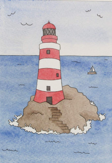 watercolour lighthouse