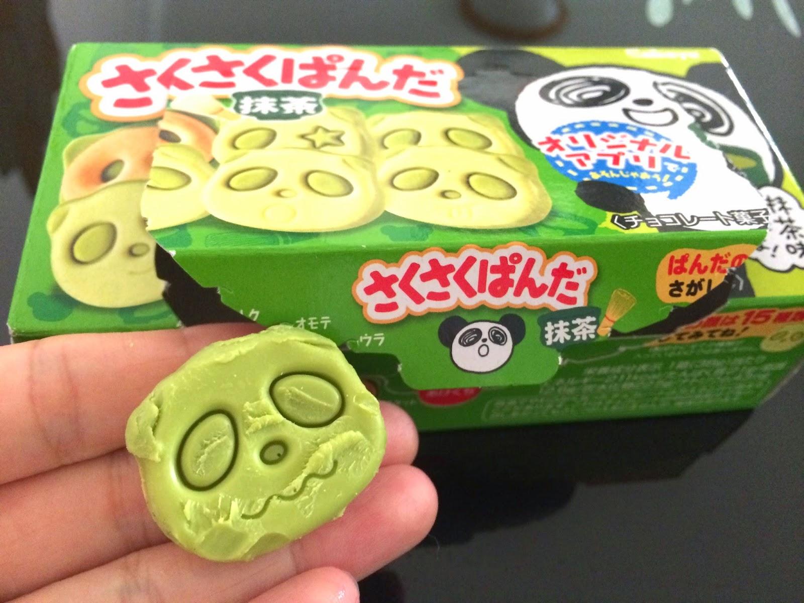 japanese matcha snack sweets japan sakusaku panda