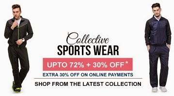 Minimum 60% to 72% Off + Extra 30% Off on Men's Tracksuits @ Yepme