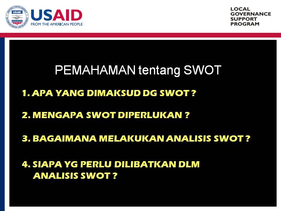 Pemahaman Tentang SWOT