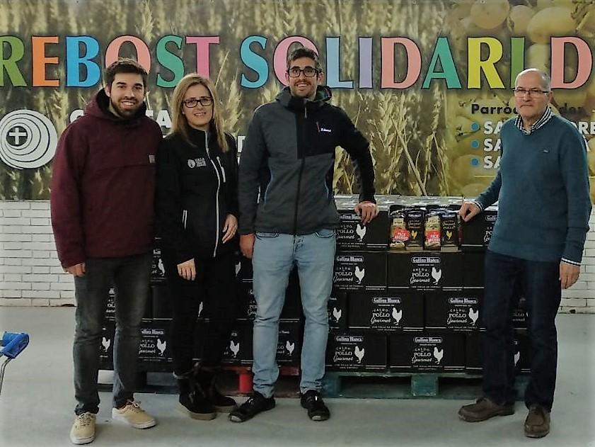Premi Solidari Gallina Blanca BC2017 Colla Castellera Jove de Barcelona a Càritas