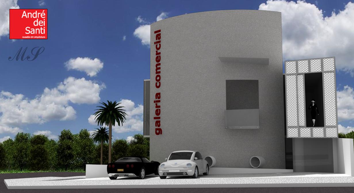 Projetos em 3d projeto galeria comercial - Galeria comercial ...