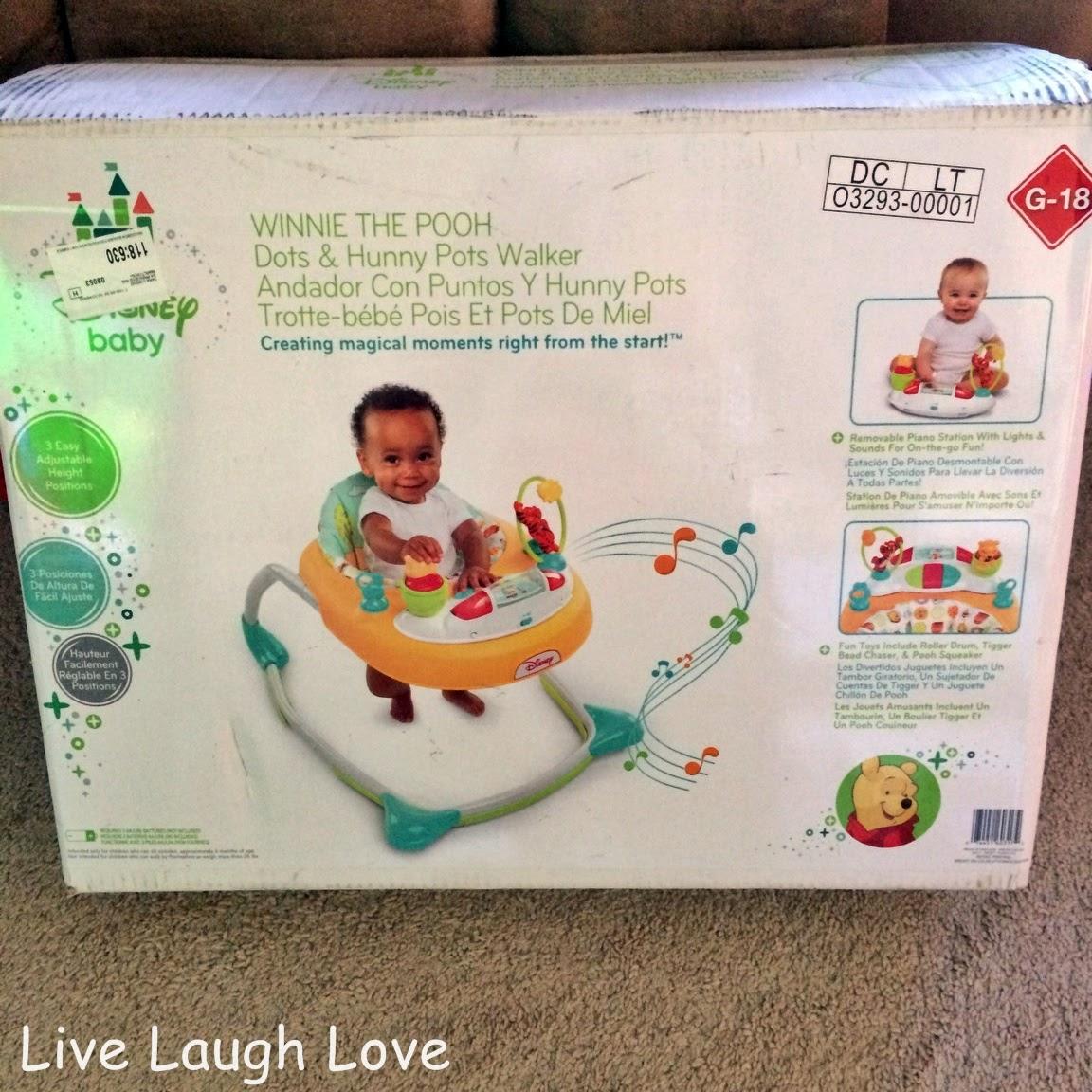 live  laugh  love  winnie the pooh dots  u0026 hunny pots walker review