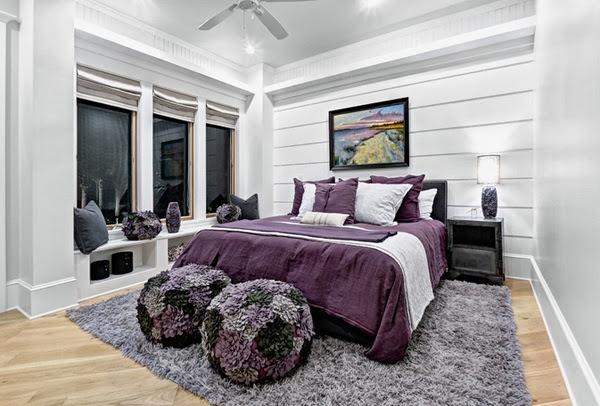 Id e d co chambre noir blanc et violet for Chambre mauve et noir