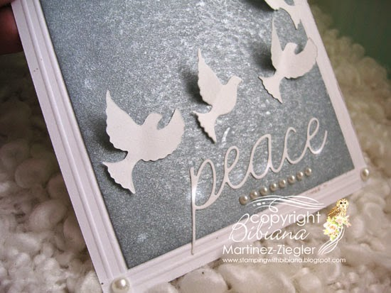 CAS card Peace Doves detail