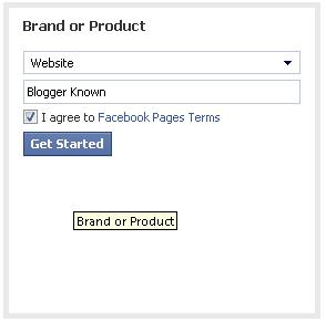 Select Brand or Product for website
