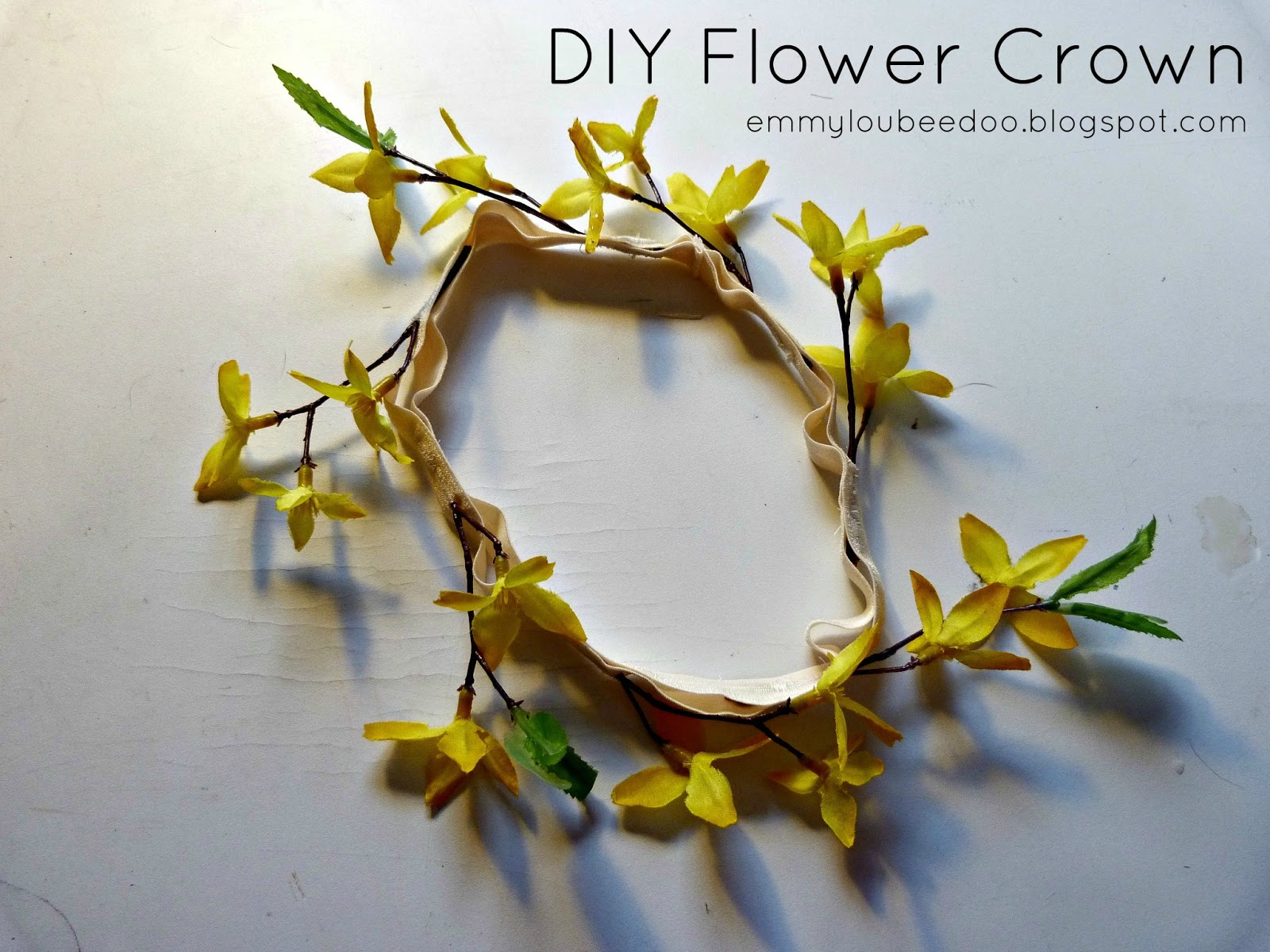 EmmylouBeeDoo DIY Flower Crown Tutorial