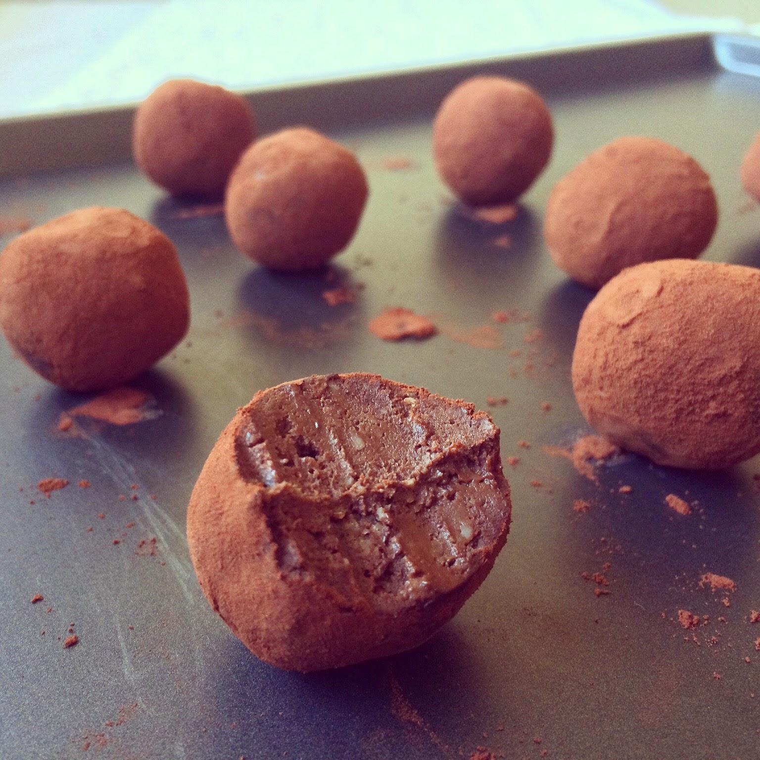 truffes avocat chocolat