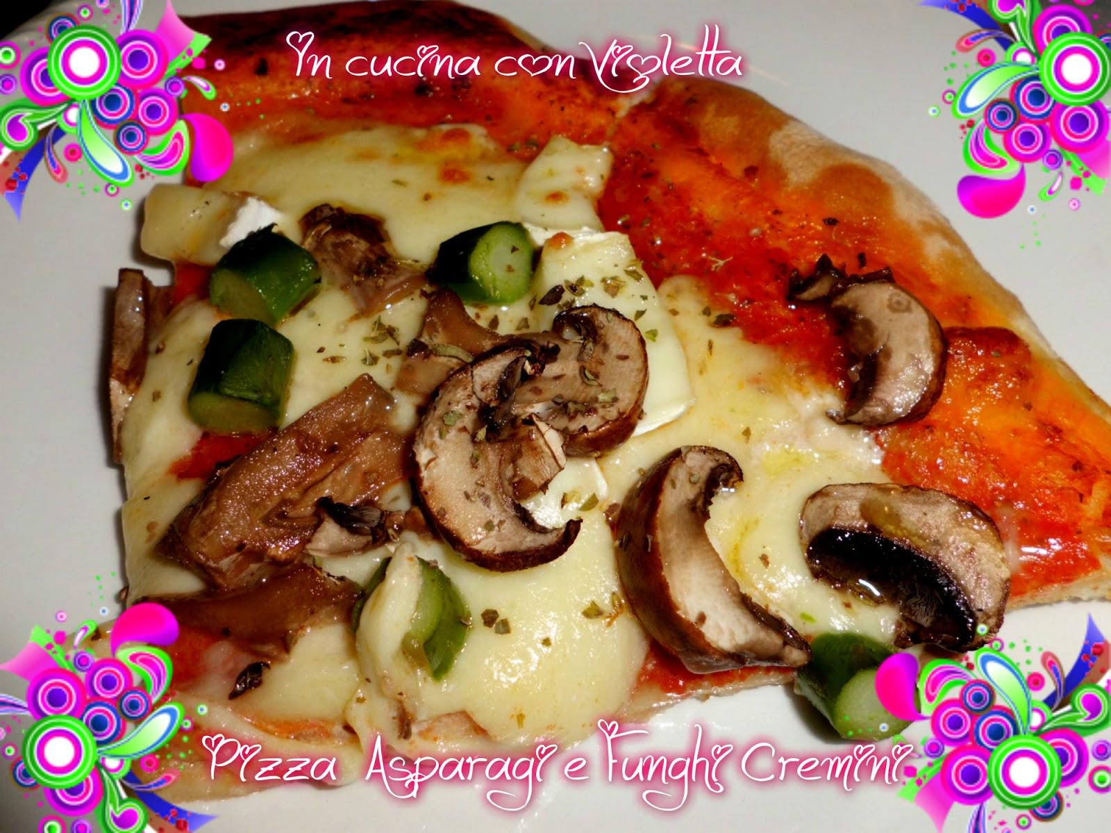In Cucina Con Violetta: Pizza Asiago Melanzane Asparagi e Funghi ...