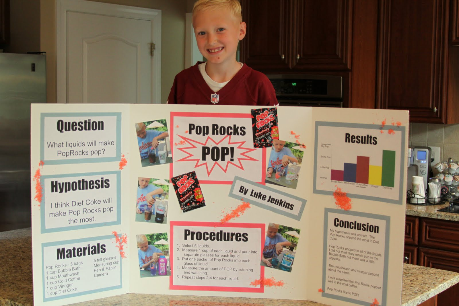 """rock candy science project Rock candy materials 3 cups sugar  10 thoughts on """" how to make rock candy or sugar crystals  ← easy rainbow density science project."""