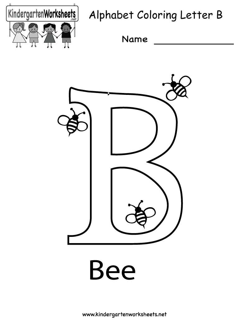 Alphabet Coloring Pages For 3 Year Olds : B