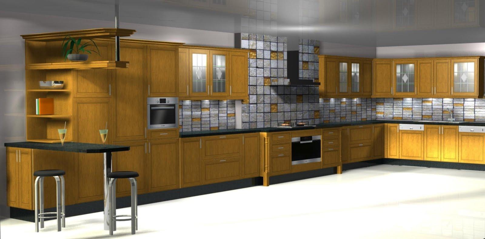 Mi cocina dise o de cocina en madera de roble for Cocinas de madera de roble