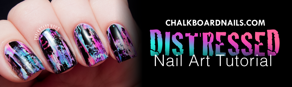 Distressed Nail Art Tutorial - Chalkboard Nails
