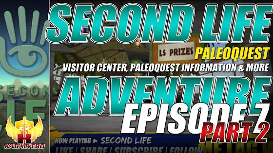 Second Life Adventure ★ PaleoQuest → Visitor Center, PaleoQuest Information & More