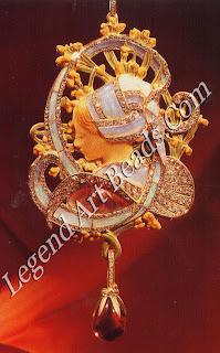 "A 1900 pendant called ""La Bretonne"", made of gold, enamel, opals, diamonds and amethysts."