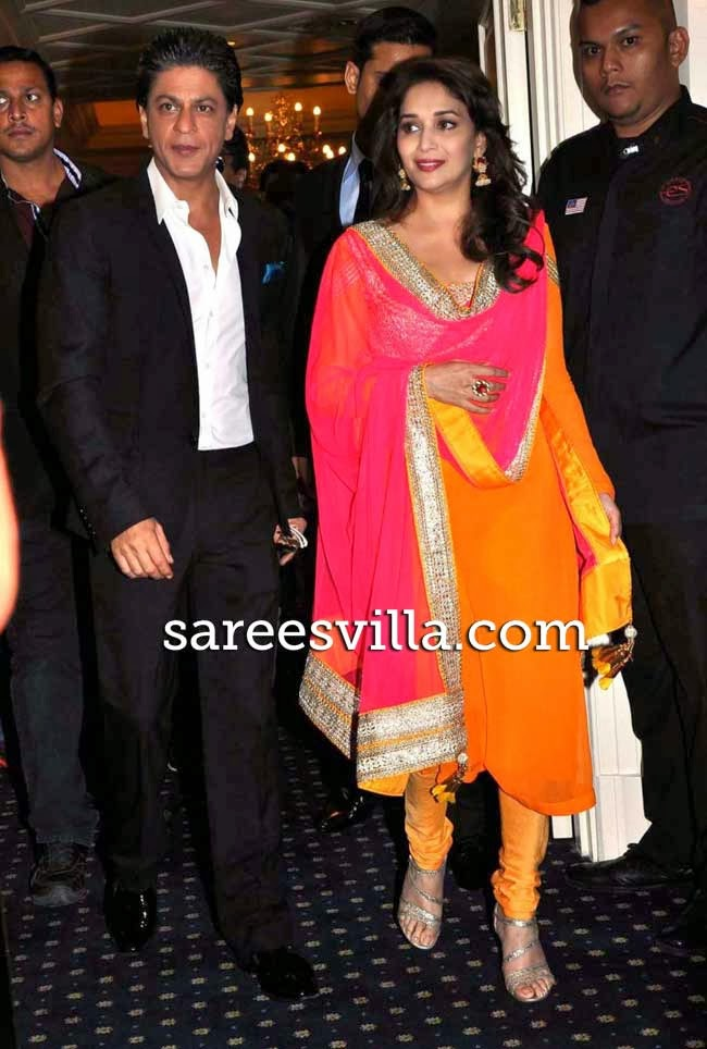 Madhuri Dixit in Orange Salwar Kameez
