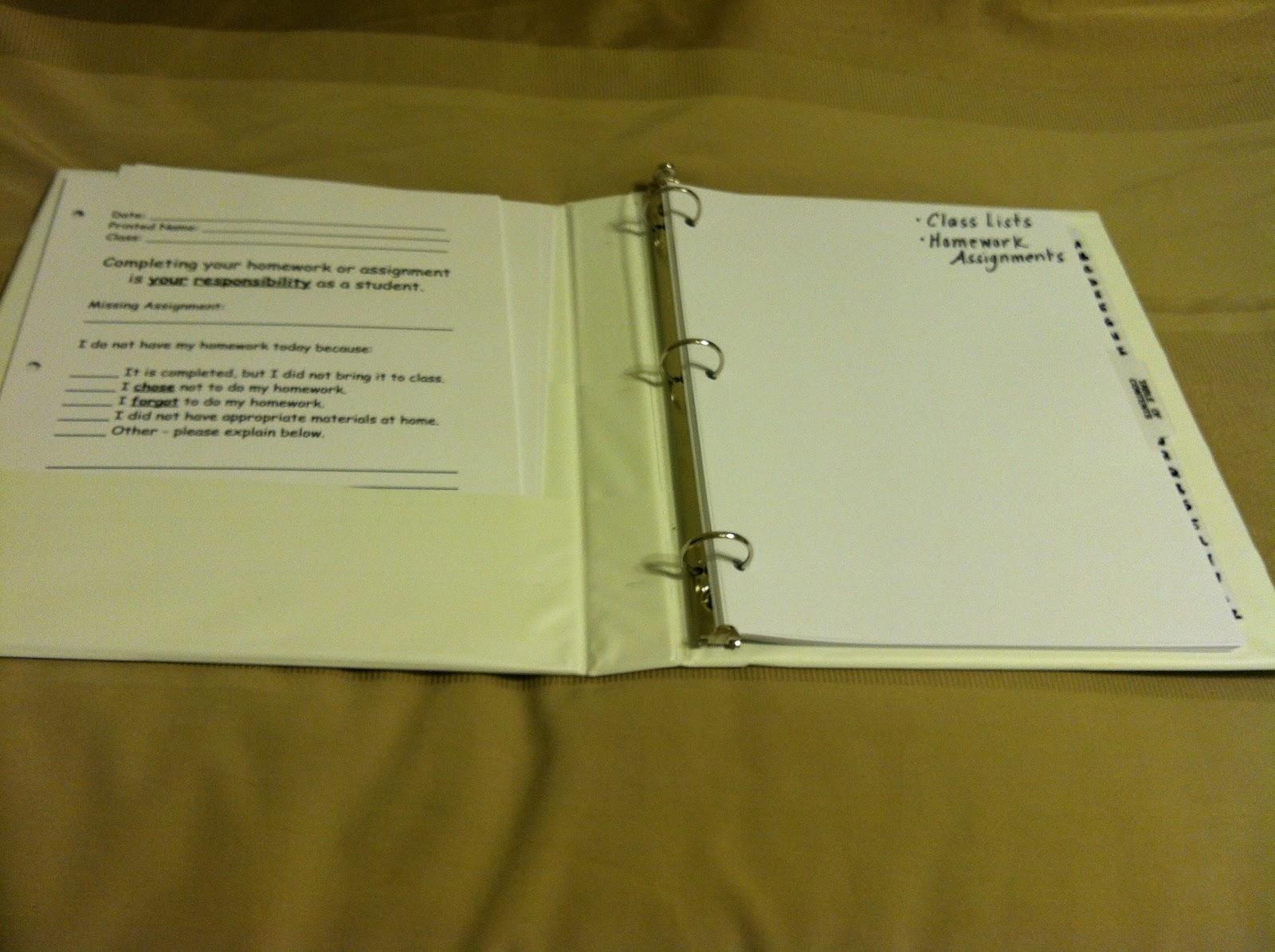 homework binder