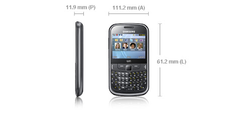 especificaciones samsung chat 335