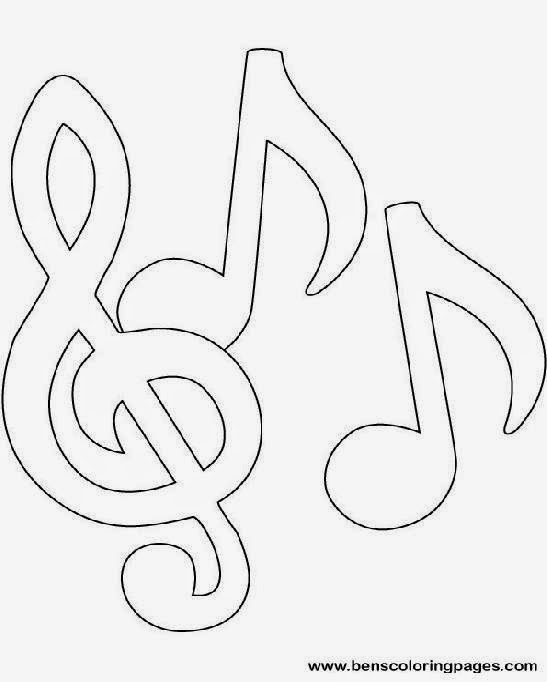 music coloring sheets