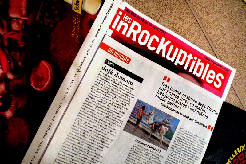 First (& sofar only) mention of Davidikus in Les Inrockuptibles (lesinrocks.com)