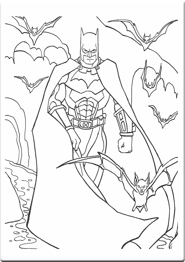 coloring batman pages - photo#31