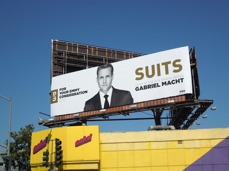 Gabriel Macht Suits Emmy 2012 billboard
