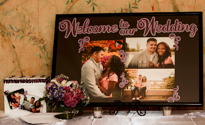 "Handcrafted ""Welcome to Our Wedding"" sign"