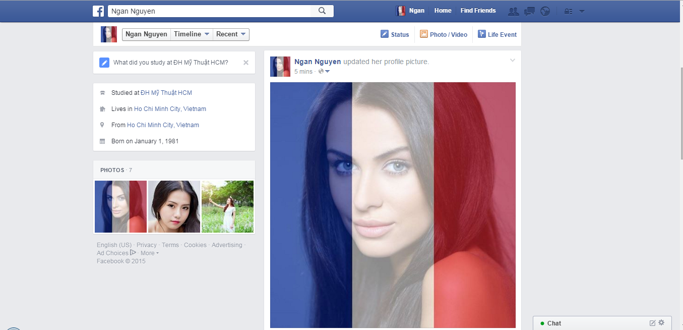 In todays photoshop tutorial change your avatar to support change your avatar to support france and parisians on facebook photoshop tutorial baditri Images