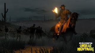 john marston la nuit dans Undead Nightmare du jeu Red Dead Redemption