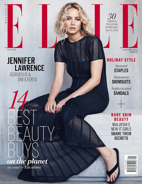 Actress, @ Jennifer Lawrence - ELLE Malaysia January 2016