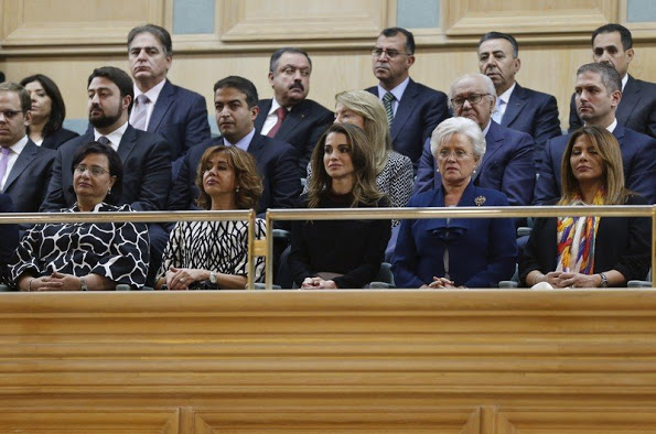 Queen Rania Attended The Opening Of The Parliament