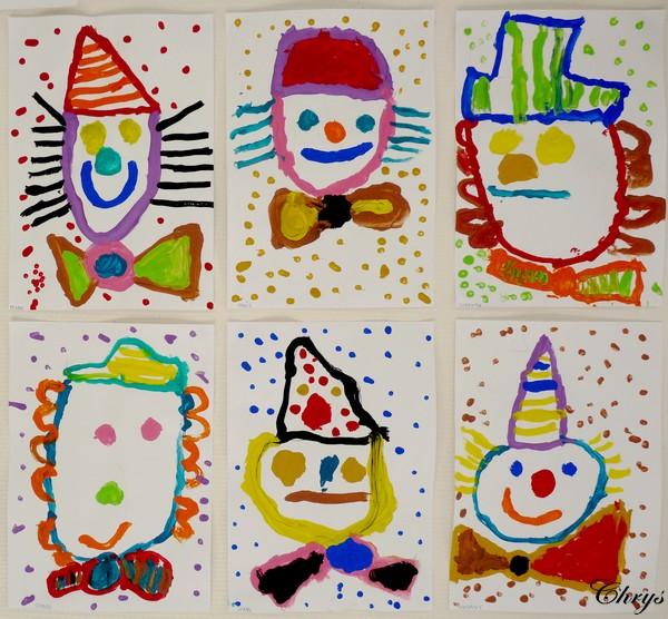Le journal de chrys des clowns multicolores - Dessiner un clown ...