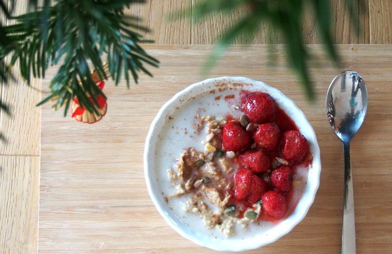 Terveellinen aamiainen: kananmunapuuro