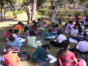 Drawing Competition on Republic Day 2012
