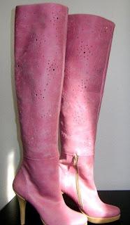 imagine cu cizme de vara roz din piele la comanda