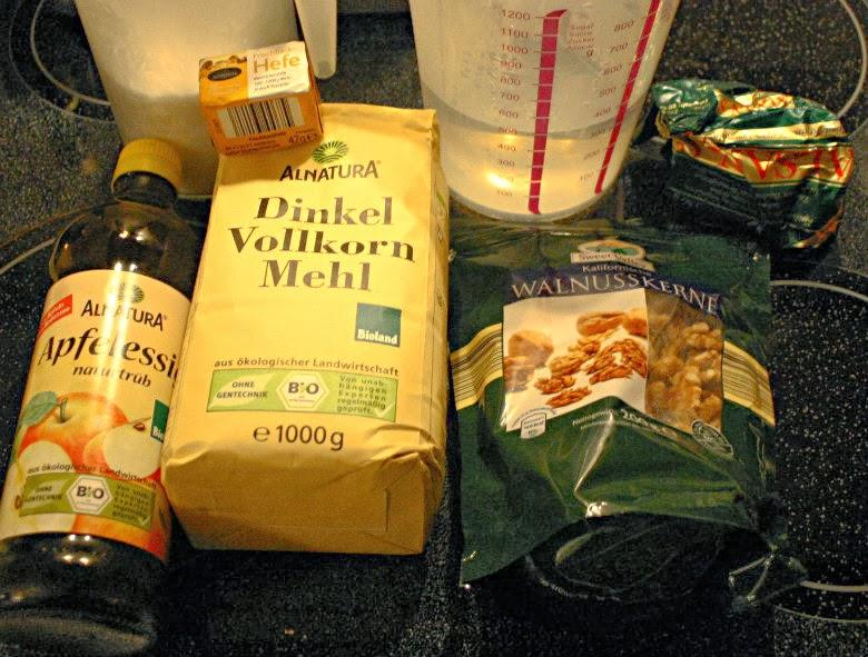 Zutaten, einfach, Brot, vegan