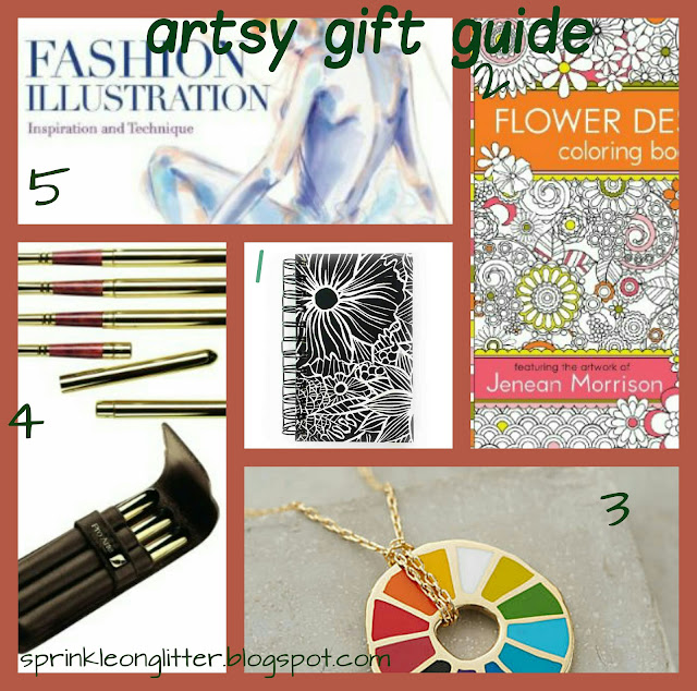 Sprinkle On Glitter Blog//Artsy Gift guide 1// collage
