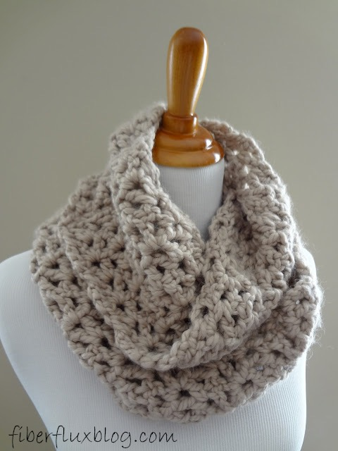 Free Crochet Pattern For Easy Infinity Scarf : Fiber Flux: Free Crochet Pattern...Pavement Infinity Scarf!