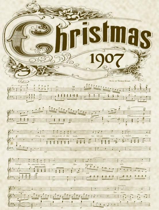 Printable Vintage Christmas Music Sheets and 6 Holiday ...