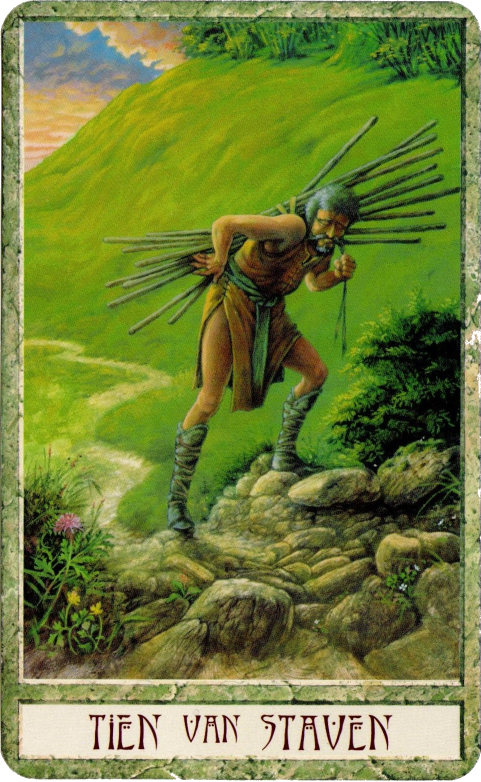 Druidcraft Tarot Ten of Wands