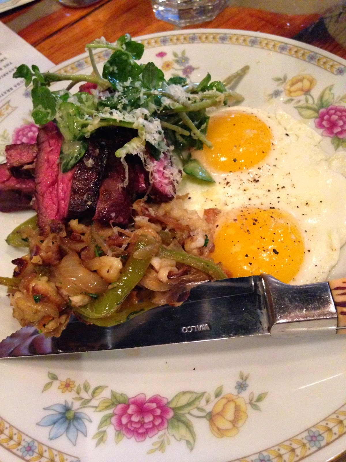 Skirt Steak and Eggs