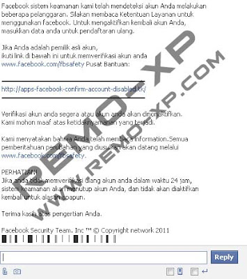 pesan hack di facebook