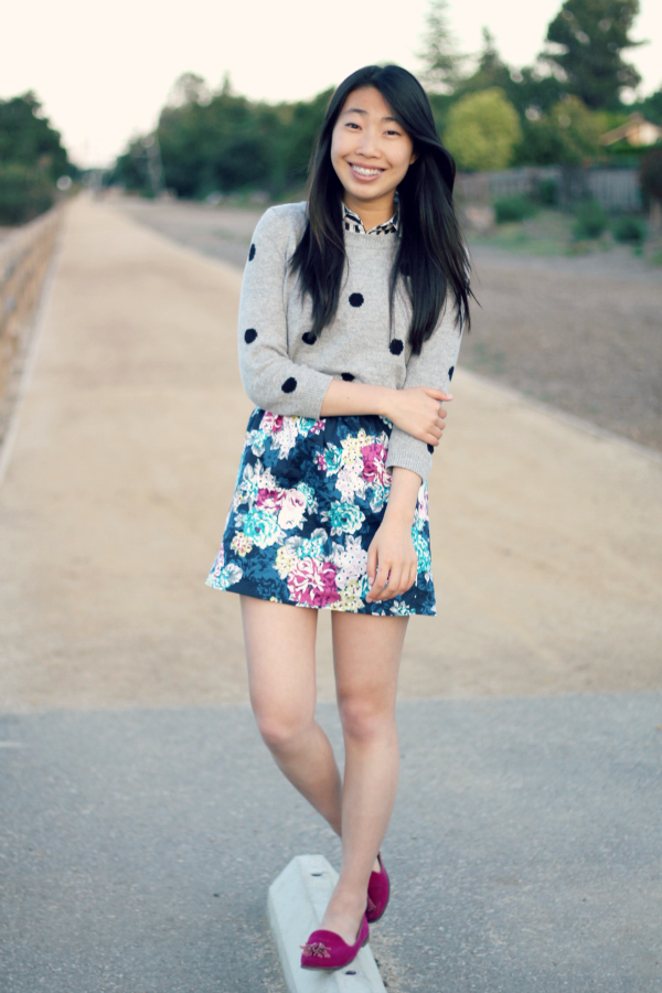 print mixing outfit