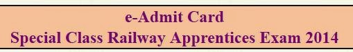 Admit Card Download SCRA Examination  2014