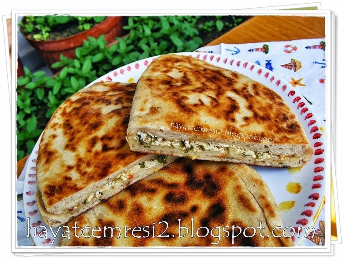 cokelekli peynirli bazlama ekmek 1